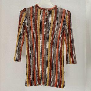 MISSONI Multi-Color Stripe Sweater Top S